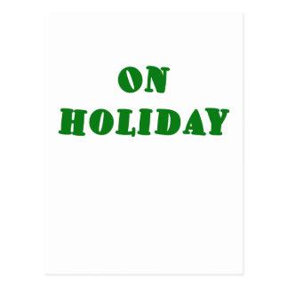 On Holiday Postcard