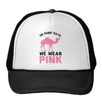 On Hump Days We Wear Pink Trucker Hat