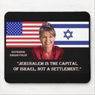 ON JERUSALEM - Sarah Palin Quote Mouse Pad