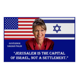ON JERUSALEM - Sarah Palin Quote Poster