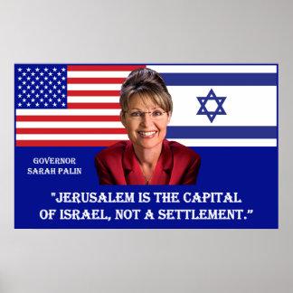 ON JERUSALEM - Sarah Palin Quote Poster