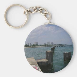 On Lake Michigan Shores Keychain