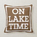 On Lake Time Throw Pillows