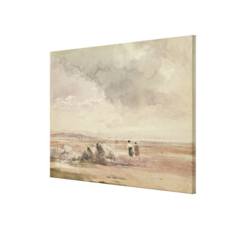 On Lancaster Sands, Low Tide, c.1840-47 (w/c, pen Canvas Print