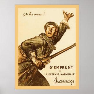 On Les Aura! ~ French World War 1 Print