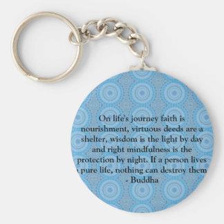 On life's journey faith is nourishment, virtuous.. basic round button keychain