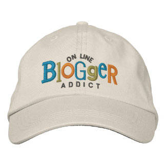 On Line Blogger Addict Embroidery Hat Embroidered Baseball Caps
