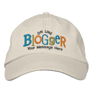On Line Blogger Personalize Embroidery Hat Embroidered Hat