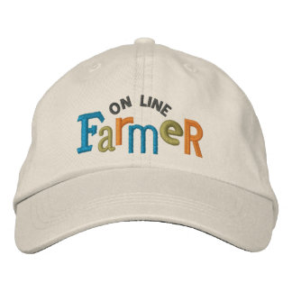 On Line Farmer Embroidery Hat Embroidered Baseball Caps