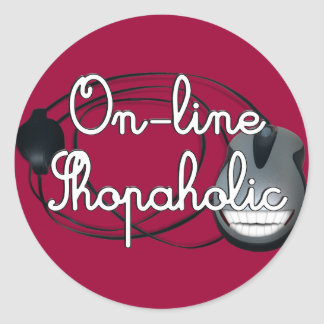 On-Line  Shopaholic Classic Round Sticker