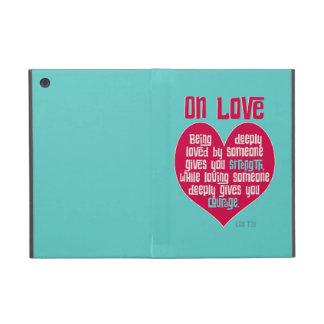 On Love. Quote by Lao Tzu iPad Mini Cases