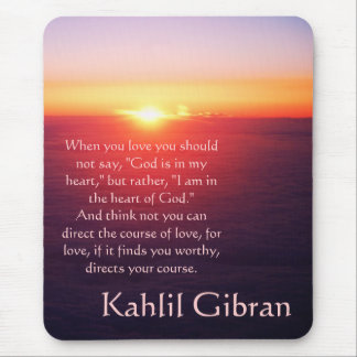 On Love - The Prophet by Kahlil Gibran Mouse Pad