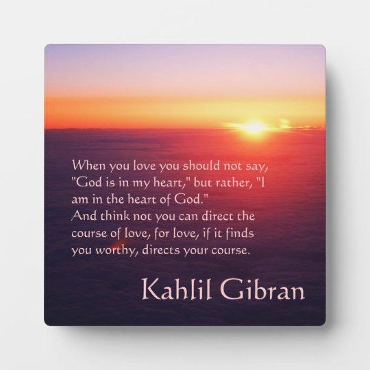 On Love The Prophet By Kahlil Gibran Plaque Zazzle Com