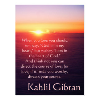 On Love - The Prophet by Kahlil Gibran Postcard