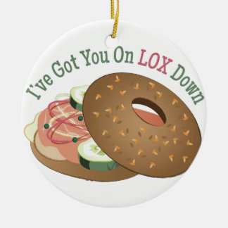 On Lox Down Double-Sided Ceramic Round Christmas Ornament