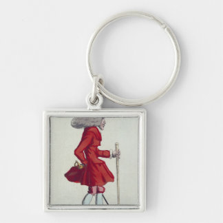 On m'attends aux Feuillants' Silver-Colored Square Keychain