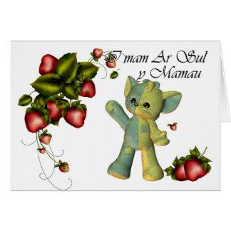 On Mothers Day, I mam Ar Sul y Mamau , Welsh Langu Card