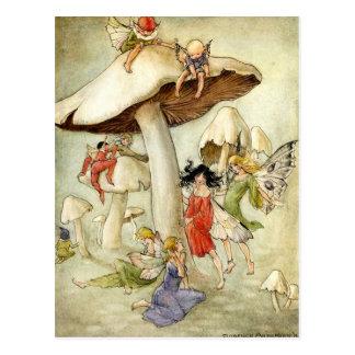 'On Mushroom Hill' - Postcard