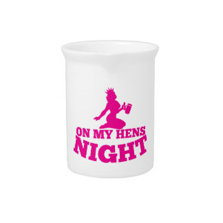On my HENS NIGHT with pink lady Beverage Pitcher