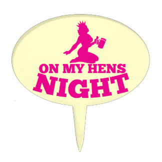 On my HENS NIGHT with pink lady Cake Topper