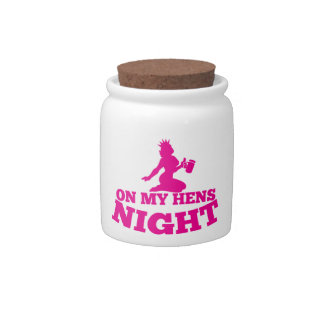 On my HENS NIGHT with pink lady Candy Jar