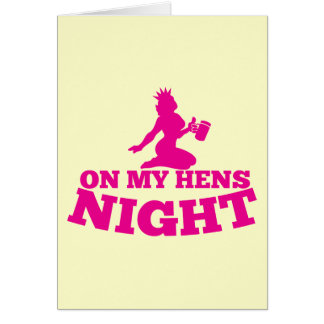 On my HENS NIGHT with pink lady Cards
