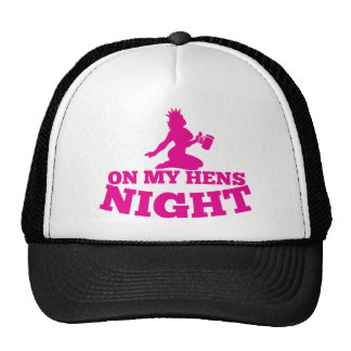 On my HENS NIGHT with pink lady Hat