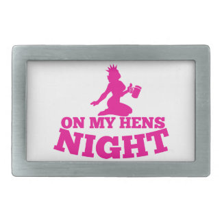 On my HENS NIGHT with pink lady Rectangular Belt Buckle
