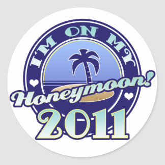 On My Honeymoon 2011 Classic Round Sticker