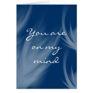 On my mind greeting card