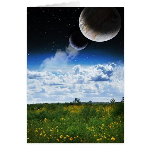 On My Planet, They Bloom Greeting Card