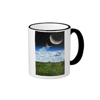 On My Planet, They Bloom Ringer Mug