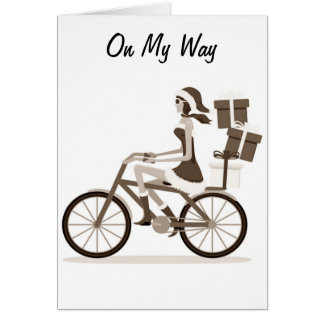 ON MY WAY(BIKING)TO SAY HAPPY 40th Card