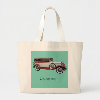 On my way large tote bag