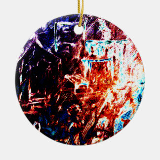 """""""On My Way To Town"""" Round Ornament"""