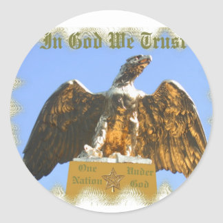 On Nation Under God Sticker