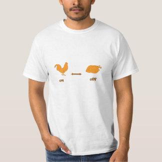 on off Chicken T-Shirt