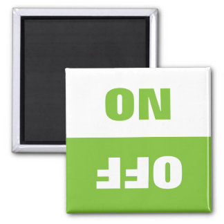 On Off Dishwasher in use sign fridge magnet