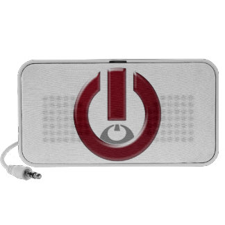 On-Off red Travelling Speakers