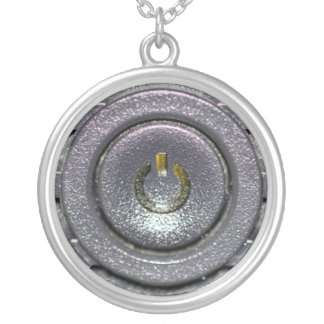 On Off Round Pendant Necklace