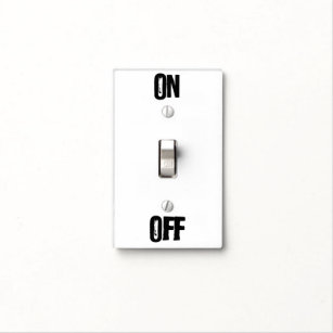 On Off Wall Plates & Light Switch Covers   Zazzle