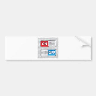 On Off Switch Web style Bumper Sticker