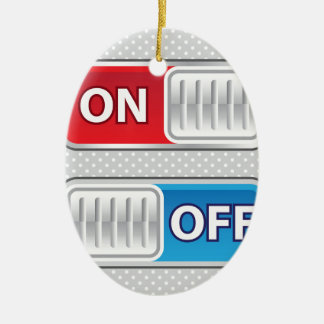 On Off Switch Web style Ceramic Ornament