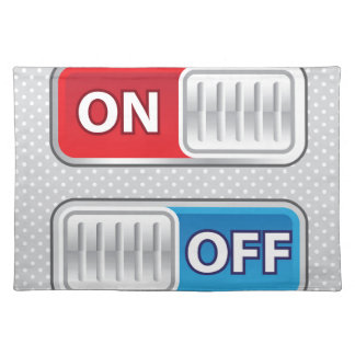 On Off Switch Web style Cloth Placemat