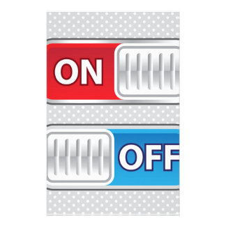 On Off Switch Web style Stationery