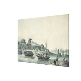 On one of the rivers of China Canvas Print