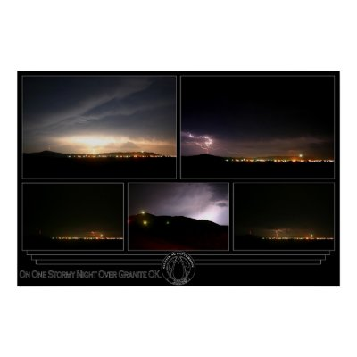 On One Stormy Night Over Granite OK. Print by gmp1993