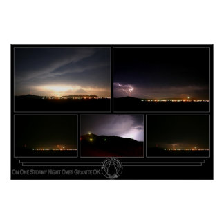 On One Stormy Night Over Granite OK. Poster