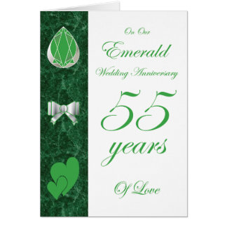 On Our Emerald Wedding Anniversary Card