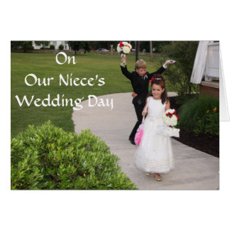 ON OUR NEICE'S WEDDING DAY CARD